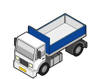 Isometric Dumper Truck. Dumper truck illustration in Isometric 3d view Royalty Free Stock Photography