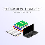 Isometric education and graduation vector concept. 3d back to sc Royalty Free Stock Images