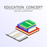 Isometric education and graduation vector concept. 3d back to sc Stock Photo