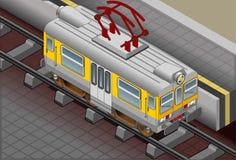Isometric Electric Train Stock Photography