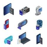 Isometric Electronic Gadgets Set Royalty Free Stock Photos