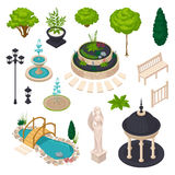 Isometric Elements For City Landscape Constructor Stock Photos