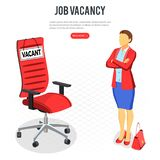 Isometric Employment and Hiring Concept stock illustration
