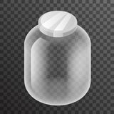 Isometric Empty Glass Pot Jar Sign Transparent Background Mockup Icon 3d Realistic Design Vector Illustration Royalty Free Stock Photos