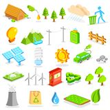 Isometric Environment Icon. Illustration of isometric environment icon Royalty Free Stock Photography