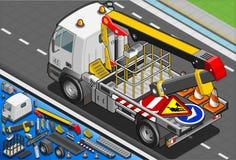 Isometric Estradowa dźwignięcie ciężarówka w Tylni widoku Fotografia Royalty Free