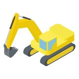 Isometric excavator Stock Photos