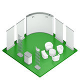 Isometric exhibition booth stand Stock Photos