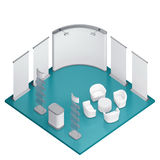 Isometric exhibition booth stand Royalty Free Stock Photography