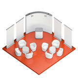 Isometric exhibition booth stand Stock Images