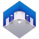 Isometric exhibition booth stand Royalty Free Stock Images