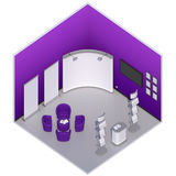 Isometric exhibition booth stand Royalty Free Stock Image