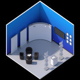Isometric exhibition booth stand Royalty Free Stock Photos