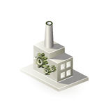 Isometric factory Stock Photo