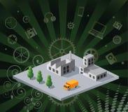 Isometric factory Stock Image