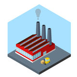 Isometric factory Royalty Free Stock Photography