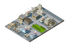 Isometric factory Royalty Free Stock Photo