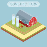 Isometric farm banner Stock Photography