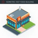Isometric fasta food budynek Obraz Stock