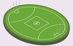 Isometric field for Australian football, isolated image. In vector Royalty Free Stock Photo