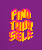 Isometric Find your self quote background stock photography
