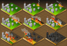Isometric Fire Disaster Classifications Scale Royalty Free Stock Photography