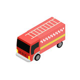 Isometric fire truck. Isometrick fire truck icon for infographic and game design Royalty Free Stock Photography