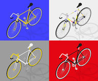 Isometric fixed gear bicycle vector illustratio Stock Photo