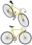 Isometric fixed gear bicycle vector illustratio Royalty Free Stock Photos
