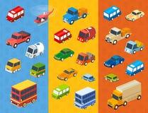 Isometric flat cars Stock Image