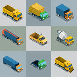Isometric flat City vehicles Stock Photo