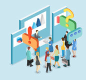 Isometric flat 3D concept  exhibition or promotion stand. Stock Photography