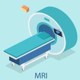 Isometric flat 3D concept  hospital medical mri web illustration. Royalty Free Stock Photos