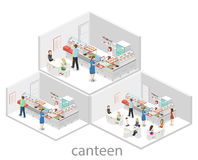 Isometric flat 3D concept  interior of a coffee shop Stock Photography