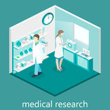 Isometric flat 3D concept  interior of science laboratory. Stock Photography