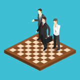 Isometric flat 3D  concept  orporate business market strategy. Royalty Free Stock Photos