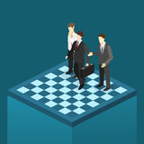 Isometric flat 3D  concept  orporate business market strategy. Royalty Free Stock Image