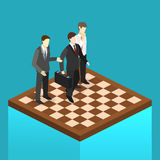 Isometric flat 3D  concept  orporate business market strategy. Royalty Free Stock Photography