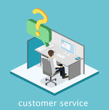 Isometric flat 3D interior call center. Customer support. Stock Photography