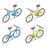 Isometric flat 3D isolated concept  bicycle. Eco transport. bike for infographics and design games Royalty Free Stock Photography