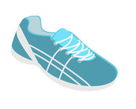 Isometric flat 3D isolated flat illustration sneakers running, walking, shopping. Isometric flat 3D isolated concept flat illustration collection set of sneakers Royalty Free Stock Images
