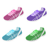 Isometric flat 3D isolated sport shoes. Isometric flat 3D isolated concept sport shoes Royalty Free Stock Photos