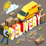 Isometric Flat Express Delivery Services 3d royalty free illustration