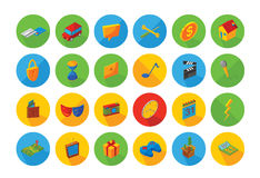 Isometric flat icon set. Illustration of 24 isometric flat icon. Available in vector eps 10 file Royalty Free Stock Image