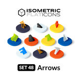 Isometric flat icons set 48 Royalty Free Stock Image