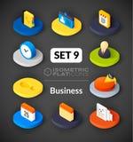 Isometric flat icons set 9 Royalty Free Stock Images