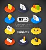 Isometric flat icons set 10 Royalty Free Stock Image