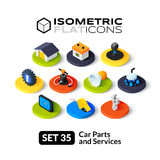 Isometric flat icons set 35 Royalty Free Stock Image