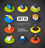 Isometric flat icons set 35 Royalty Free Stock Photo