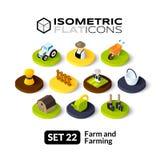 Isometric flat icons set 22 Royalty Free Stock Photography